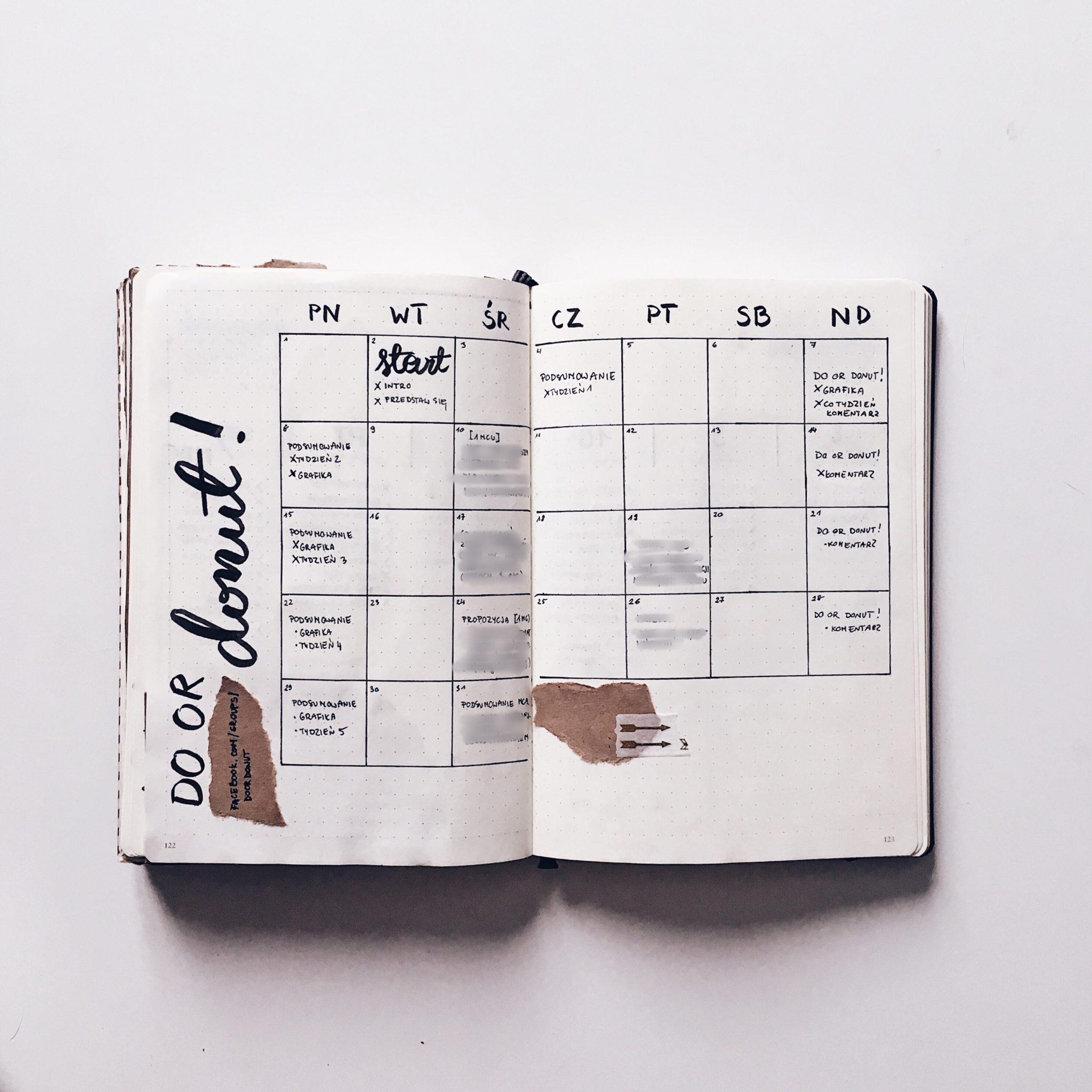 blogowanie bujo planner